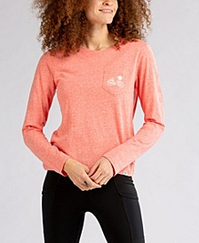 Women's Flow Long Sleeve Pocket Embroidered T-shirt