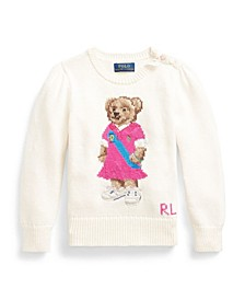 Toddler Girls Polo Bear Sweater