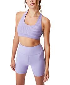 Women's Workout Cut Out Crop Bra