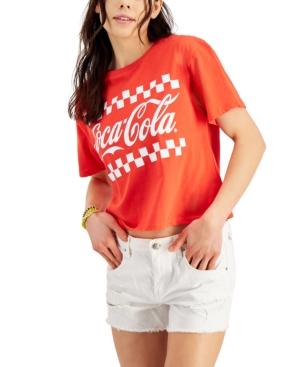 Juniors' Coca-Cola Graphic-Print T-Shirt