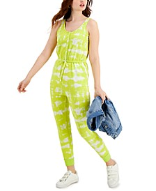 Petite Printed Drawstring-Waist Jumpsuit, Created for Macy's