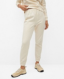 Women's Cotton Jogger-Style Trousers