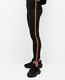 Women's Striped Print Leggings