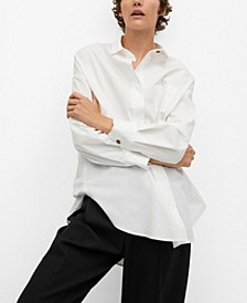 Women's Jewel Buttons Cotton Shirt