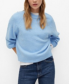 Women's Pearls Knitted Sweater