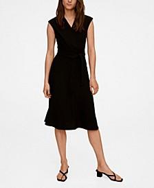 Women's Wrap Neckline Dress