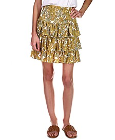 Paisley-Print Tiered Skirt, Regular & Petites Sizes
