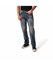 Men's Dark Indigo Wash Tapered Leg Jeans