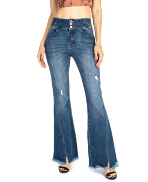 Women's High Rise Stone Flare Jeans