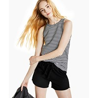 Deals on Style & Co Cotton Striped Cutaway Tank Top