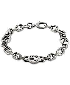 Double G Link Bracelet in Sterling Silver
