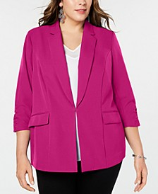 INC Plus Size 3/4-Sleeve Blazer, Created for Macy's