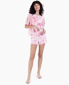 Lettuce-Edge Shorts 2pc Pajama Set, Created for Macy's