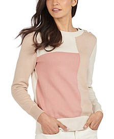 Highlands Cotton Colorblocked Sweater