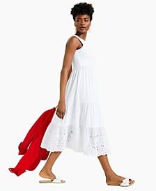 Eyelet-Hem Midi Dress, Created for Macy's