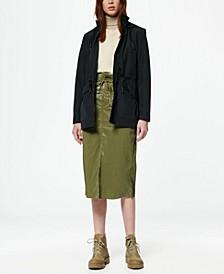 Women's Hooded Rain Parka Coat