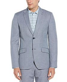 Men's Slim Fit Linen Blend Textured Suit Jacket