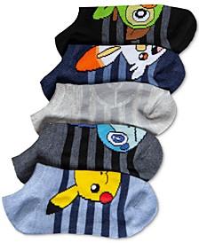 Pokémon Little Boys 5-Pk. No-Show Socks