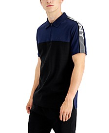 Men's Quarter-Zip Logo Polo Shirt, Created for Macy's