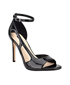 Women's Dance Cut Out Stiletto Dress Sandals