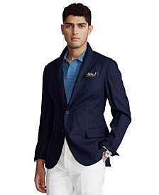 Men's Polo Soft Slub Linen Suit Jacket