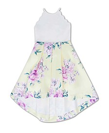 Big Girls Pleated Floral Dress