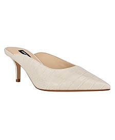 Women's Angle Slip-on Pointed Toe Mules