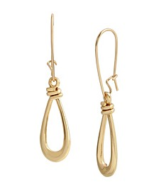 Knotted Open Dangle Earrings