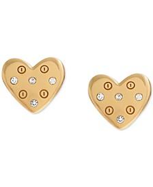 Screw Heart Stud Earrings