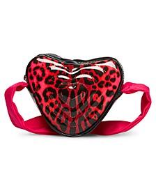 Patent Leopard Heart Crossbody Bag
