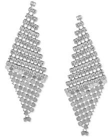 Crystal Rhinestone & Mesh Kite Earrings