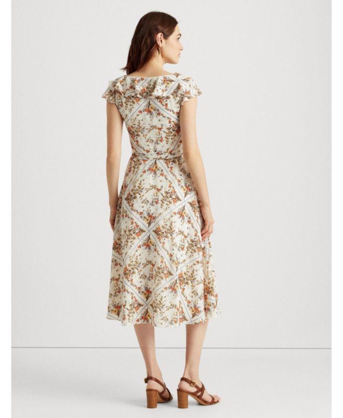 Lauren Ralph Lauren Petite Floral Crepe Midi Dress & Reviews - Dresses - Petites - Macy's
