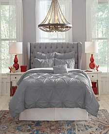 Pointehaven Knotted Pintuck Twin Comforter Set, 4 Piece