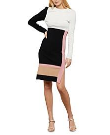 Colorblocked Knit Dress