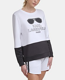 Colorblock Sunglass Sweatshirt