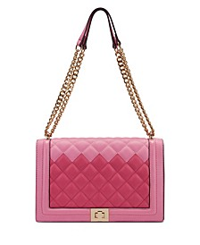 INC Ajae Bicolor Quilted Crossbody, Created for Macy's