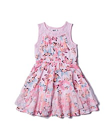 Little Girls All Over Print Challis Dress
