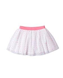 Toddler Girls Dotted Tulle Skirt
