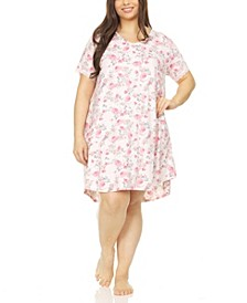 Chase Printed Plus Size Sleepshirt