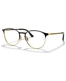 RX6375 Unisex Round Eyeglasses