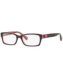 HC6040 Women's Rectangle Eyeglasses