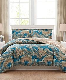 Banana Palm 3-Pc. Reversible King Comforter Set, Created for Macy's