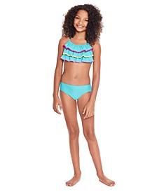 Big Girls Bikini Set with Ruffles, 2 Piece