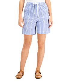 Cotton Seersucker Pull-On Shorts, Created for Macy's