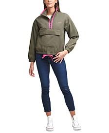 Nylon Popover Jacket