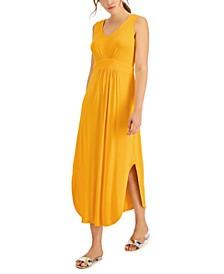 Empire-Waist Knit Maxi Dress