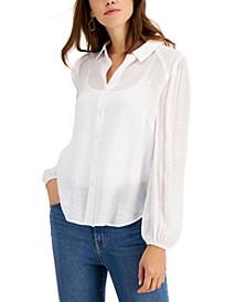 Gauze Button-Front Shirt