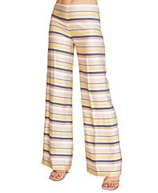 Penelope Striped Wide-Leg Pants