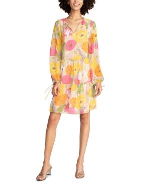 Trina Turk CINEMA FLORAL-PRINT TIERED DRESS