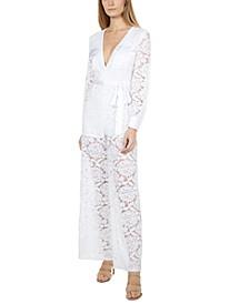 Lace Tie-Waist Jumpsuit